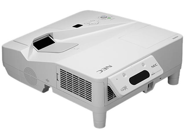 NEC Display Solutions NP-UM330X-WK 1024 x 768 3300 lumens LCD Ultra Short Throw Projector w/ Wall Mount 3000:1 RJ45