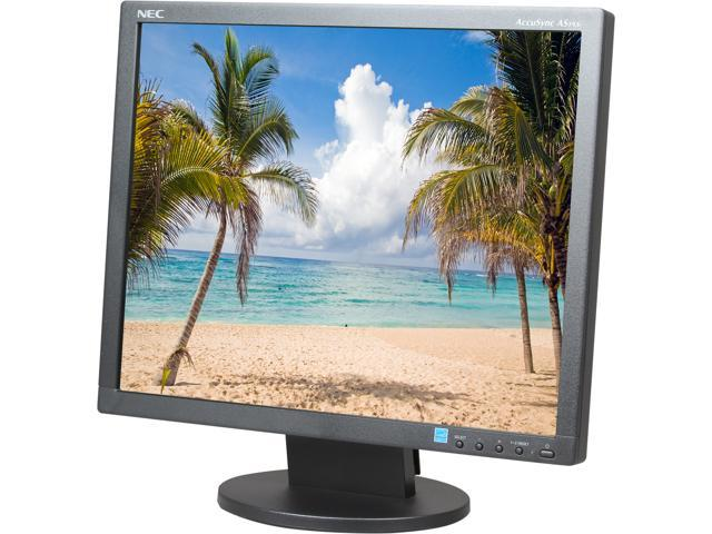 NEC Display AccuSync AS193i-BK Black 19? IPS Panel, LED Backlight LCD Monitor 14ms 250cd/m2, ECO Mode function ? Carbon Footprint Meter, Rapid ...