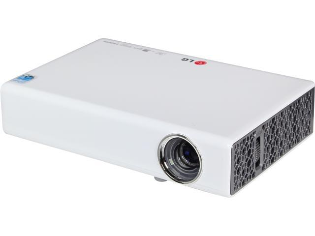 "LG PB63U WXGA 1280x800 Built-In WiFi & TV Tuner 500 ANSI Lumens (100"" Display Size) 3D Portable LED Projector"