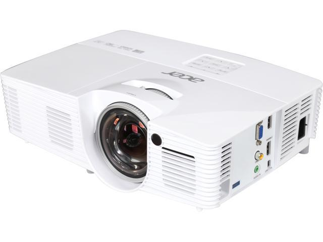 Acer H6517ST 1920 x 1080 FHD 3000 ANSI Lumens, 0.5:1 Throw Ratio, Dual HDMI Ports, Built in Speakers, 3D Ready Short Throw DLP Projector