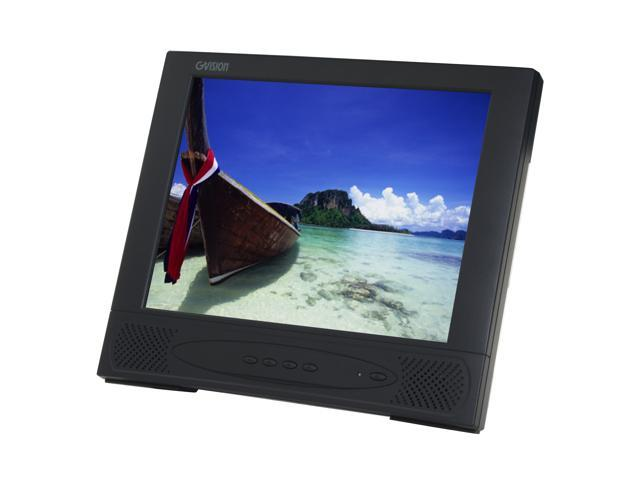 "GVISION L15AX-JA-452G Black 15"" Serial 5-wire Resistive Touchscreen LCD Monitor 250 cd/m2 400:1 Built-in Speakers"