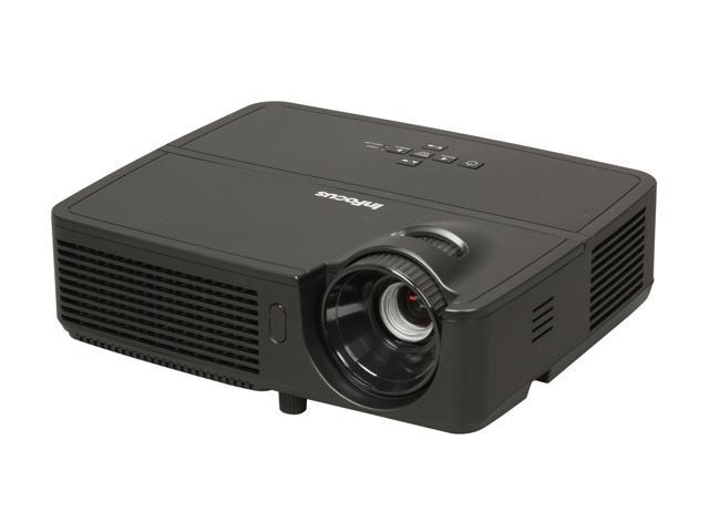 InFocus IN124 1024x768 XGA 3200 ANSI Lumens, HDMI 1.4 input, Compact & Lightweight, Easy to Maintain – No Filters, Portable 3D Ready DLP Projector