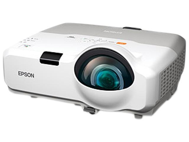 Epson PowerLite 435W 1280x800 WXGA 3000 ANSI Lumens, Short Throw, iProjection, 16:10 widescreen, RJ-45 LAN, HDMI & Dual VGA Inputs, Premium 16W ...