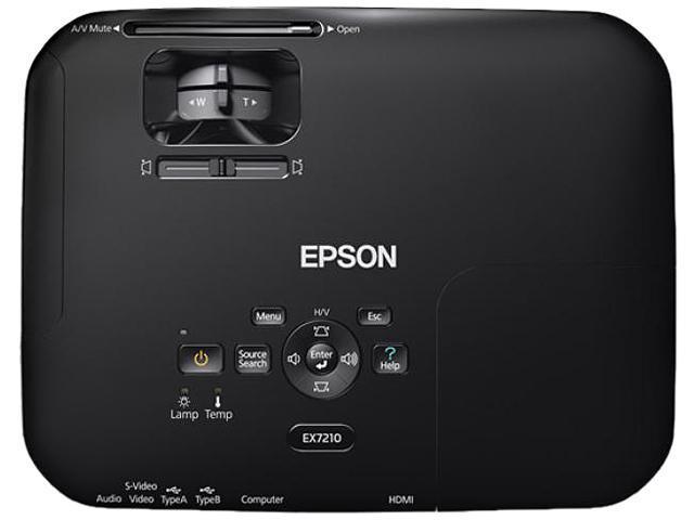 EPSON EX7210 1280 x 800 2800 Lumens 3LCD Multimedia Projector 3000:1