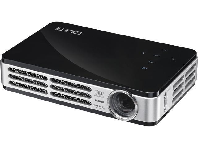 Vivitek Q5-BK 1280 x 720 Up to 500 Lumens HD Pico DLP Technology by Texas Instruments LED Pocket Projector 10,000:1