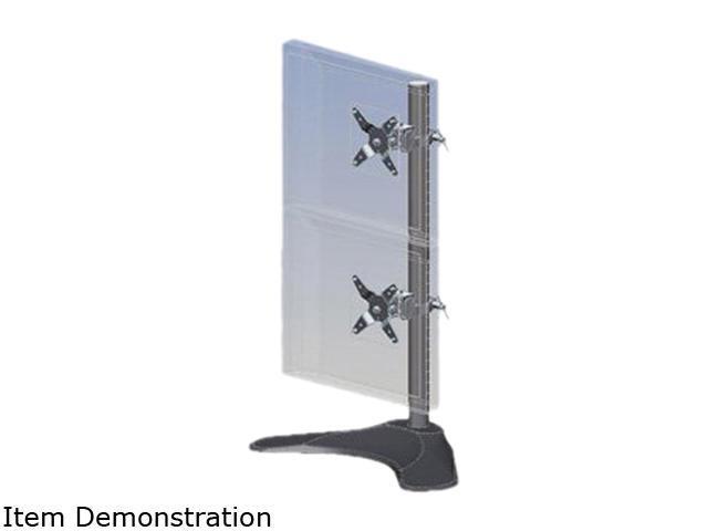Ergotech 100-D28-B11 Dual Vertical LCD Desk Stand