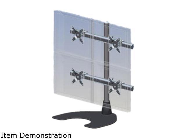 Ergotech 100-D28-B22-HD Quad (2 over 2) LCD Desk Stand