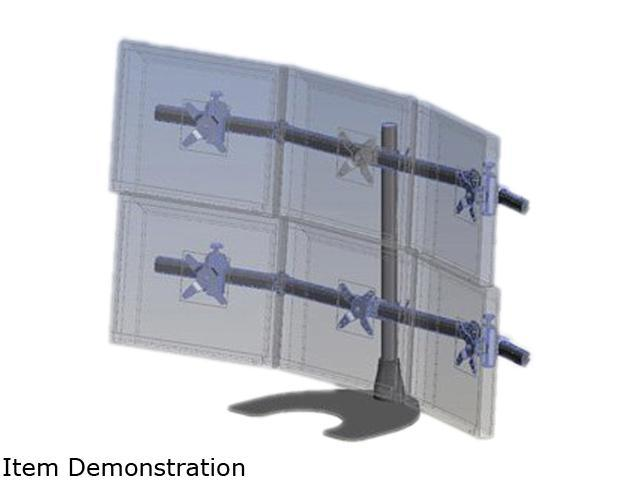 Ergotech 100-D28-B33 Hex (3 over 3) LCD Desk Stand