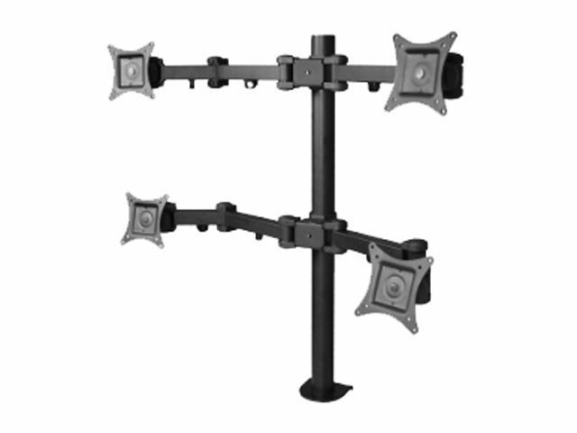 SIIG CE-MT0S12-S1 Articulating Quad Monitor Desk Mount - 13