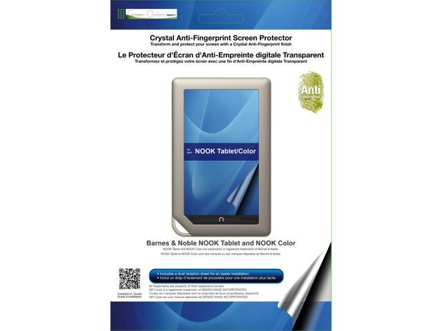 Green Onions Supply RT-SPNKTB01AF Crystal Anti-Fingerprint Screen Protector for Barnes & Noble NOOK Tablet / Color