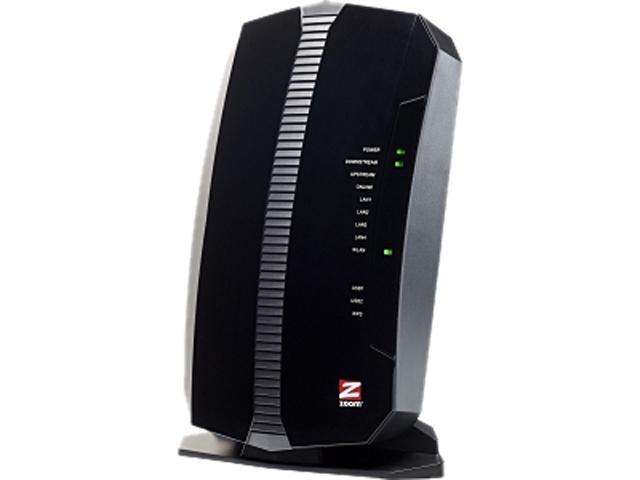 Zoom 5354 IEEE 802.11n Cable Modem/Wireless Router - 2.40 GHz ISM Band - 343 Mbps Wireless Speed - 4 x Network Port - 1 x ...