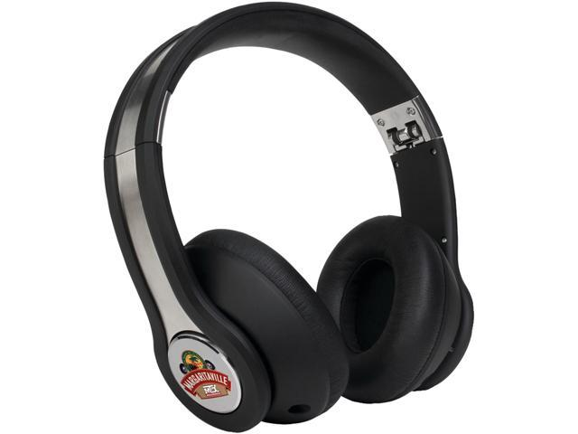 Margaritaville Black MIX1 BLACK 3.5mm Connector On-ear Monitor Headphones With Microphone (black Sand)