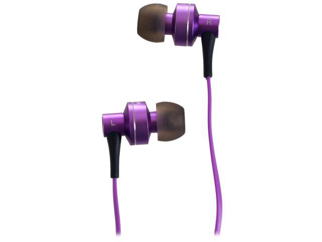 Sunbeam Purple SEB-2014 Stereo HD Bass Metal Earphones - Purple
