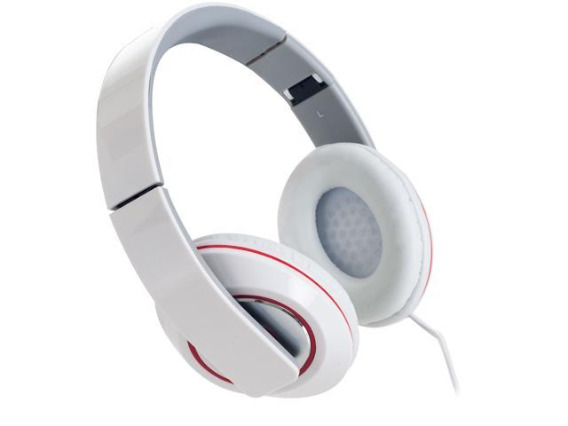 Sunbeam White SBF-2012 3.5mm Connector Stereo Bass Foldable Headphones - White