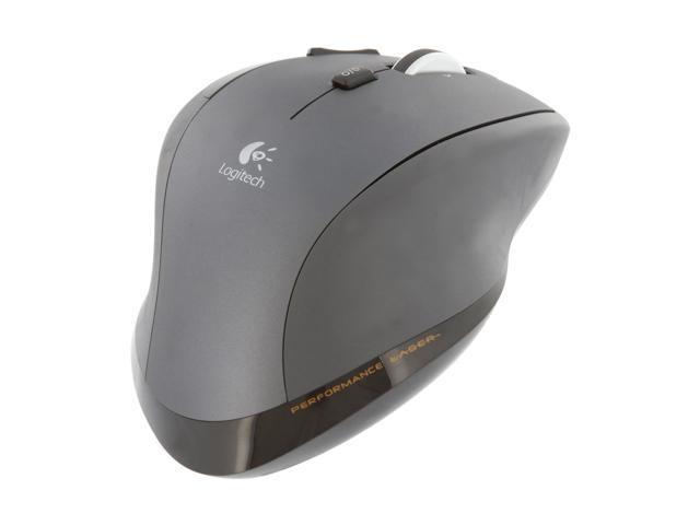 Logitech MX 1100 Black Tilt Wheel 2.4 GHz Cordless Laser 1600 dpi Mouse
