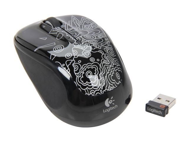 Logitech M325 910-002965 Black Topography Tilt Wheel USB RF Wireless Optical Mouse
