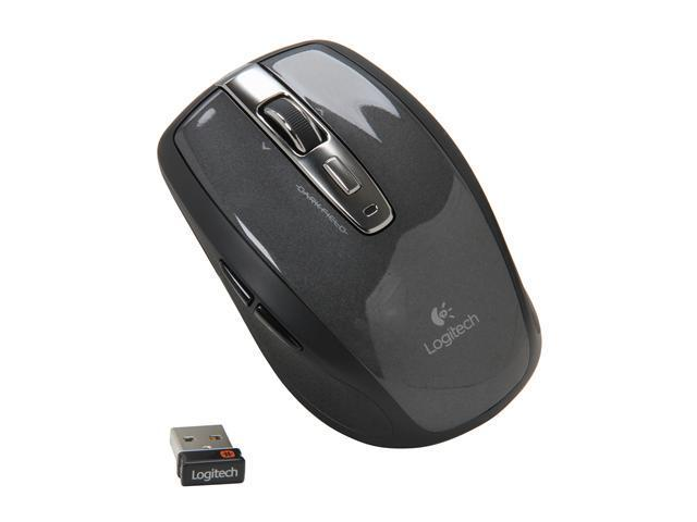Logitech Anywhere Mouse MX 910-002896 Black 5 Buttons Tilt Wheel USB RF Wireless Laser Mouse