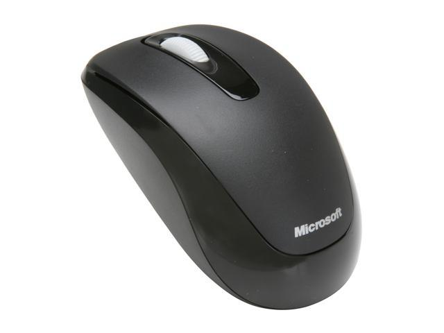 Microsoft 2CF-00002 Black 3 Buttons 1 x Wheel USB RF Wireless 1000 dpi Mobile Mouse 1000