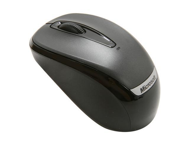 Microsoft 2EF-00002 Black 3 Buttons 1 x Wheel USB RF Wireless Optical 1000 dpi Mobile Mouse 3000