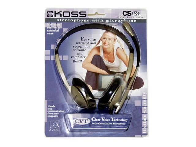 KOSS CS-100 3.5mm Connector Headphone/Headset