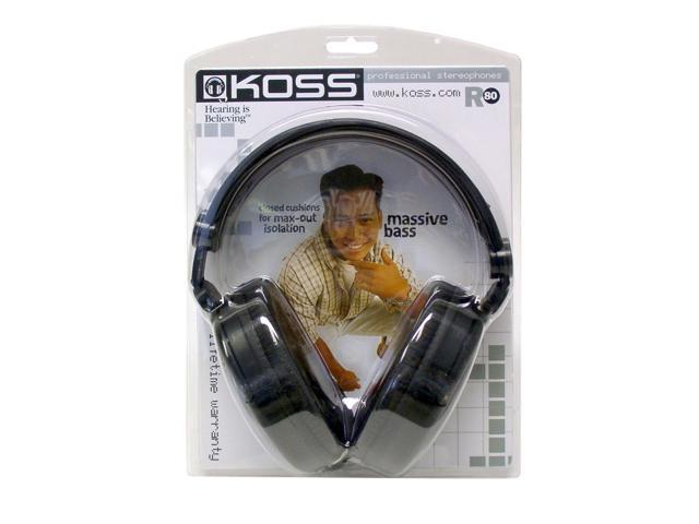 KOSS R80 3.5mm/ 6.3mm Connector Circumaural Full Size Stereophone