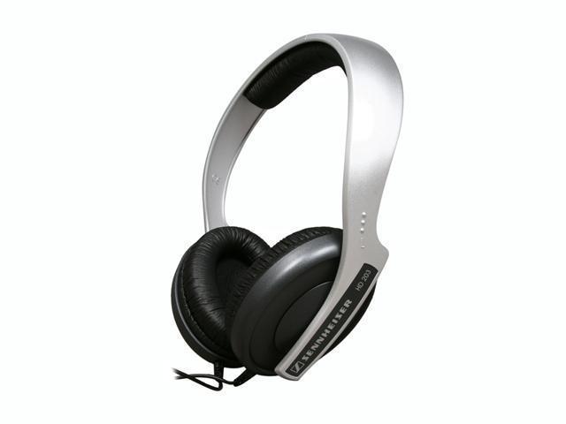 Sennheiser HD 203 3.5mm/ 6.3mm Connector Around-Ear Stereo, DJ/MP3 closed lightweight Headphones