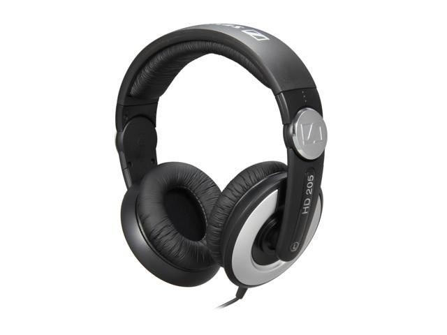 Sennheiser HD205-II 3.5mm/ 6.3mm Connector Circumaural DJ Headphones - Rotatable Ear Cup