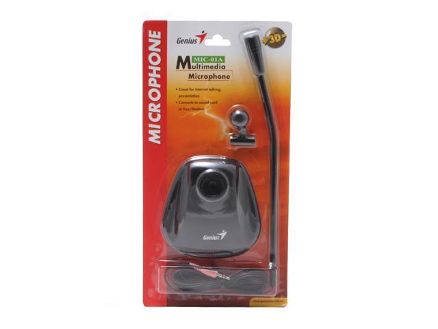 Genius MIC-01A Black 3.5mm Connector Metallic Microphone
