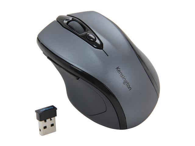 Kensington Pro Fit Mid-Size Mouse K72423AM Graphite Green 1 x Wheel USB RF Wireless Optical Mouse