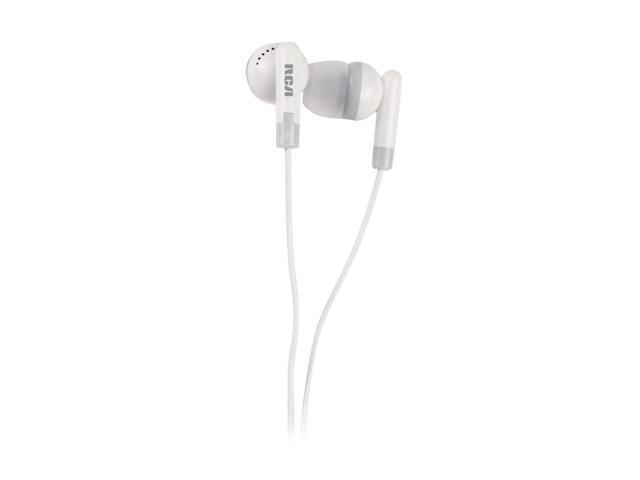 RCA HP60A 2.5mm/ 3.5mm Connector Canal Noise-Isolating Earphone with CellPhone Adapter (White)