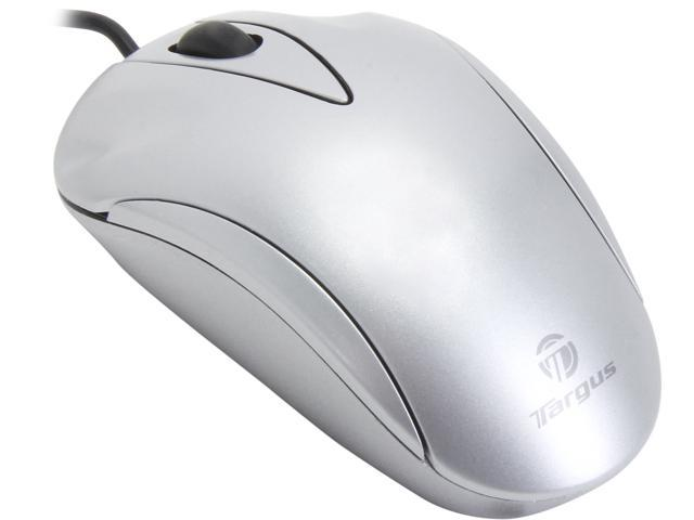 Targus AMU51US Silver 3 Buttons 1 x Wheel USB Wired Optical Laptop Mouse Manufacturer Recertified