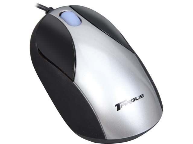 Targus PAUM010U Gray 3 Buttons 1 x Wheel USB Wired Optical Laptop Mouse Manufacturer Recertified