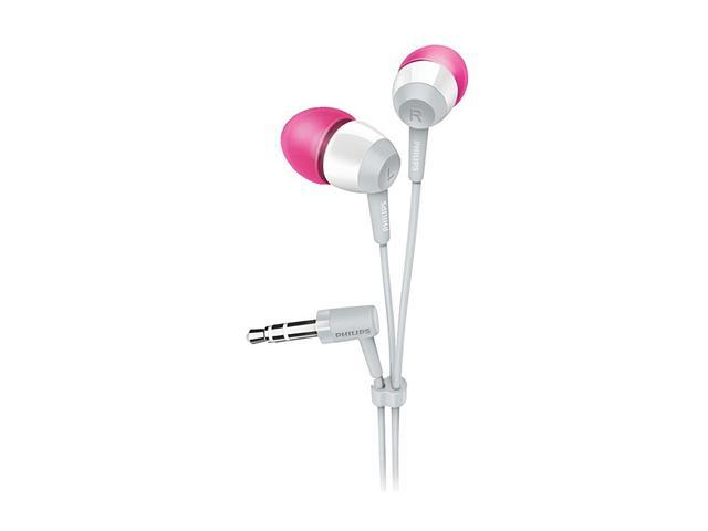 PHILIPS White with Red Accent SHE7000WT/28 3.5mm Connector In-Ear Earphone (White)