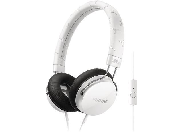 PHILIPS White SHL5305WT/28 3.5mm Connector FIXIE Stereo Headphone W/ Mic