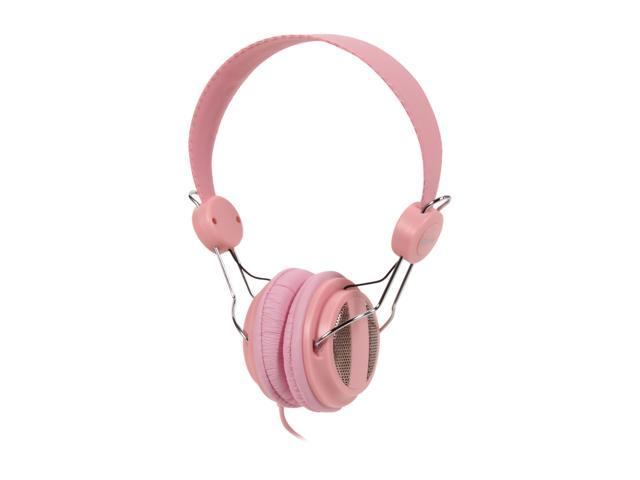 SYBA CL-AUD63024 3.5mm Connector Circumaural Lightweight Headset for iPhone & Smartphone, Built-in Slim In-line Microphone - Lady Pink