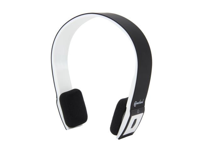 ConnectLand Black/White CL-AUD23028 3.5mm Connector Supra-aural Bluetooth v2.1 EDR Stereo Headset with Microphone - Black/White