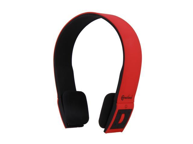 Connectland CL-AUD23030 Supra-aural Bluetooth v2.1 EDR Stereo Headset with Microphone - Red/Black