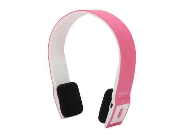 Connectland CL-AUD23031 Supra-aural Bluetooth v2.1 EDR Stereo Headset with Microphone - Pink/White