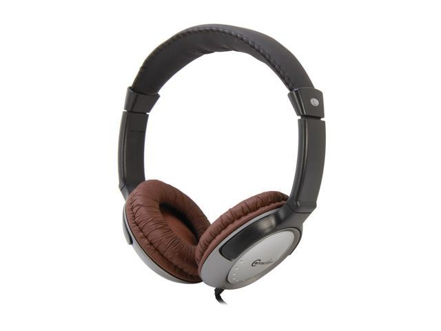 Syba Brown CL-AUD63062 Stereo Headphone with In-line Microphone, Volume Control, On/Off Switch