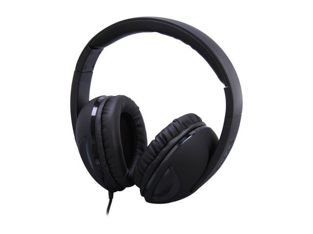 SYBA OG-AUD63038 3.5mm Connector Circumaural Oblanc COBRA Active Stereo Channel Collapsible Band Headphones with In-line Microphone