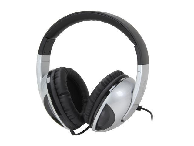 SYBA OG-AUD63040 3.5mm Connector Circumaural Oblanc COBRA Active Stereo Channel Collapsible Band Headphones with In-line Microphone, SILVER