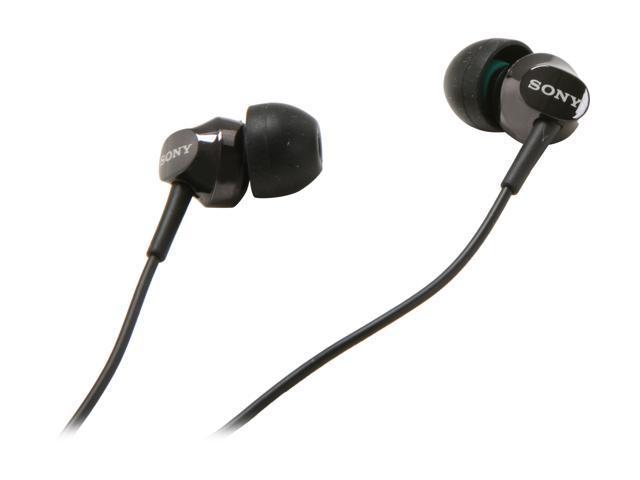 SONY Black MDR-EX58V/BLK In-Ear EX Earbud with Volume Control (Black)