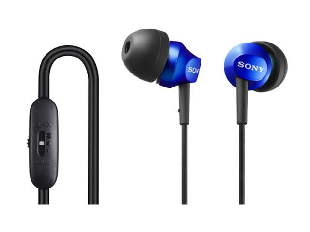 SONY Blue MDR-EX58V/BLU In-Ear EX Earbud with Volume Control (Blue)