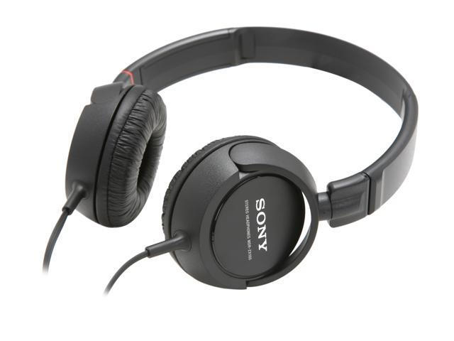 SONY Black MDR-ZX100/BLK 3.5mm Connector Supra-aural Stereo Headphone