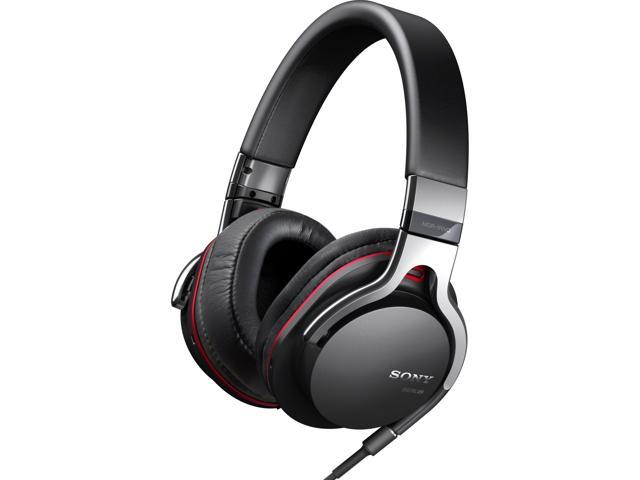 SONY Black MDR1RNC Gold-plated, four conductor L-shaped mini plug Connector Supra-aural Noise Cancelling Headphones