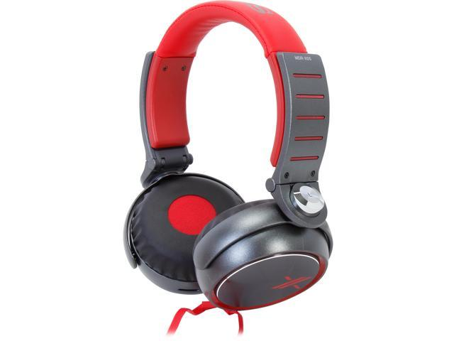 SONY Red/Black MDR-X05/RB Headphones, Red/Black