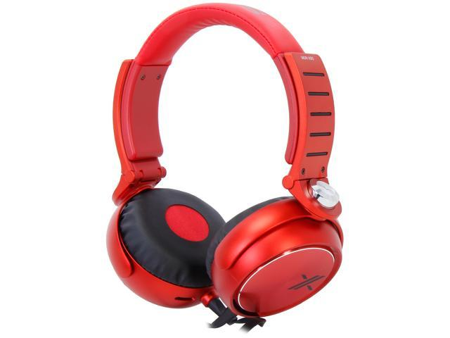 SONY Black/Red MDR-X05/BR Headphones, Red