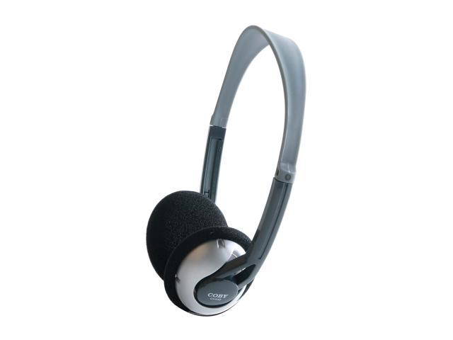 COBY CV-H42 3.5mm Connector Supra-aural Deep Bass Lightweight Headphone