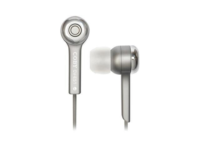 COBY CV-E52 3.5mm Connector Canal Isolation Stereo Earphone, Silver