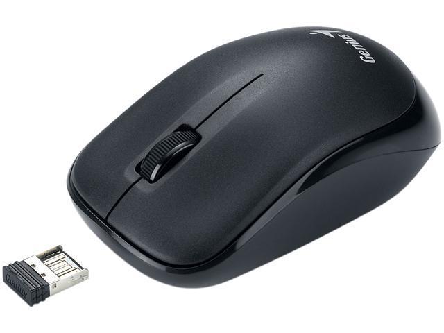 Genius Traveler 6000Z 31030023102 Black Scroll Button USB 2.4GHz Wireless Optical 1000 dpi Optical Mouse